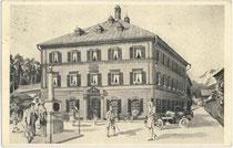 Gasthof ZUR POST in Waidring, Bezirk Kitzbühel. Autotypie 9x14cm; Illustr. Prospekt- und Kartenverlag Salzburg, gelaufen 1935.  Inv.-Nr. vu914at00003