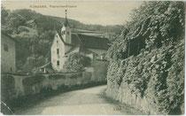 Kapuzinerkloster - heute Stadtmuseum - in Klausen am Eisack, Frag Nr. 1. Lichtdruck 9 x 14 cm; Impressum: Würthle & Sohn, Salzburg um 1905.  Inv.-Nr. vu914ld00247