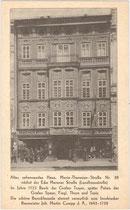"""Palais Troyer-Spaur (heute: Fa. """"Sportler""""), Maria-Theresien-Straße 39. Autotypie 9 x 14cm; ohne Impressum um 1925.  Inv.-Nr. vu914at00015"""