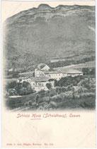 Schloss MOOS-SCHULTHAUS in St. Pauls, Gemeinde Eppan. Lichtdruck 9x14cm; Ant(on). Röggla, Kaltern um 1900.  Inv.-Nr. vu914ld00078