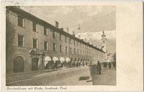 Servitenkloster und -kirche in Innsbruck, Innere Stadt, Maria-Theresien-Straße 42. Lichtdruck 9x14cm; kein Impessum um 1930.  Inv.-Nr. vu914ld00201