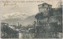 """""""Rovereto - Torrione del Castello coll'Altissimo del Monte Baldo"""". Ed(izione). Coser Carmela, Chiosco Stazione datiert 1926.  Inv.-Nr. vu914ld00131"""