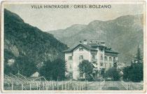 """Weingüter bei der Villa """"Hinträger"""" in der Marktgemeinde Gries (1925 nach Bozen eingemeindet worden). Autotypie 9 x 14 cm; Impressum: Vogelweider, Bozen um 1914.  Inv.-Nr. vu914at00023"""