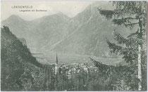 Breitlehner Felderkogel (3.075 m) im Geigenkamm der Ötztaler Alpen von Längenfeld aus. Lichtdruck 9 x 14 cm; Verlag Peter Gstrein, Längenfeld um 1900.  Inv.-Nr. vu914ld00196