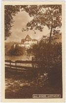 Burg LICHTENWERTH in Münster. Gelatinesilberabzug mit Sepiatonung 9 x 14 cm; kein Impressum, um 1925.  Inv.-Nr. vu914gs00417