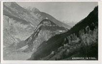 Die KRONBURG in Zams bei Landeck. Gelatinesilberabzug 9 x 14 cm; Impressum: J. Scheer, Landeck um 1940.  Inv.-Nr. vu914gs00197