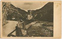 Burg RIED und Sarntaler Straße an der Talfer in Wangen, Gemeinde Ritten. Rastertiefdruck 9x14cm; kein Impressum um 1915.  Inv.-Nr. vu914rtd00028
