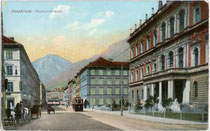 Tiroler Landesmuseum Ferdinandeum, benannt nach Kaiser Ferdinand I. (1793-1875) in Innsbruck, Museumstraße 15. Kombinationsfarbdruck 9 x 14 cm; Othmar Zieher, München um 1910.  Inv.-Nr. vu914kfd00007