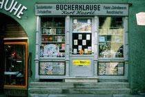 Bücherklause von Karl Haertl im Haus Lackner, ursprünglich Ansitz Lamberg in der Südflanke der Vorderstadt von Kitzbühel. Farbdiapositiv 24 x 36 mm, © Johann G. Mairhofer 1978.  Inv.-Nr. dc135kd5032.12_30