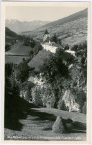 Burg TRAUTSON von Süden. Gelatinesilberabzug 9x14cm; A(lfred Nikolaus). Stockhammer (1868-1929), Hall in Tirol; postalisch gelaufen 1932.  Inv.-Nr. vu914gs00361
