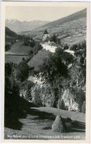 Burg Trautson von Süden. Gelatinesilberabzug 9 x 14 cm; Impressum: A(lfred Nikolaus). Stockhammer (1868-1929), Hall in Tirol; postalisch befördert 1932.  Inv.-Nr. vu914gs00361