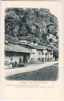 Wirtshaus des Freiheitskämpfers von 1809/10 Peter Mayr an der Mahr (Stadt Brixen). Lichtdruck 9x14cm; Verlag von A. Weger, Buchhandlung, Brixen um 1905.  Inv.-Nr. vu914ld00045