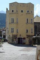"""Das """"Stubenhaus"""" der Ritter-Florian-Waldauf-Stiftung am Oberen Stadtplatz 8 in Hall in Tirol, Bezirk Innsbruck-Land, Tirol. Digitalphoto; © Johann G. Mairhofer 2013.  Inv.-Nr. 1DSC07270"""
