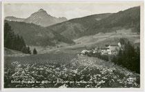 Burg Trautson von Norden (Falsche Beschreibung in Bildlegende!). Gelatinesilberabzug 9 x 14 cm; Impressum: Frank-Verlag, Graz 1931-32.  Inv.-Nr. vu914gs00363
