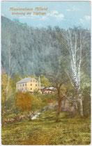 Missionshaus Milland, Wohnung der Zöglinge. Photochromdruck 9x14cm; kein Impressumsvermerk.  Inv.-Nr. vu914pcd00060