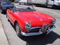 Front- und Beifahrerseitenansicht vom Alfa Romeo Giulietta Spider (Karosserieentwurf: Carozzeria Pininfarina S.p.A., Torino; Produktionszeitraum: 1955 - 1962). Digitalphoto; © Johann G. Mairhofer 2014.  Inv.-Nr.  1DSC09643