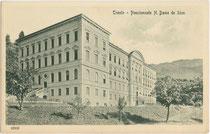 Pensionnato (Erziehungsheim) Notre Dame de Sion in Trento/Trient. Lichtdruck 9 x 14 cm; Impressum: Stengel & Co., Dresden um 1905.  Inv.-Nr. vu914ld00270