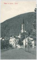 Ortskern von Vahrn bei Brixen mit Ansitz LIDLHOF. Lichtdruck 9x14cm; Stengel & Co., Dresden um 1905.  Inv.-Nr. vu914ld00070