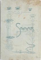 Bedruckte Rückseite von Inv.-Nr. vuCAB-00258 mit Jugenstildekor.