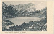 Zireiner (vorm. Irdeiner) See im Gemeindegebiet von Münster, Bzk. Kufstein Tirol und Rofanspitze (2.259 m.ü.A.) im Rofan-Hauptkamm der westlichen Brandenberger Alpen (AVE 6). Lichtdruck 9 x 14 cm ohne Impressum um 1900.  Inv.-Nr. vu914ld00318