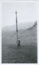 """""""Ostern 1933 - Kleiner Gaiger in Natters"""" (handschriftl. bez.). Gelatinesilberabzug 9 x 15 cm ohne Impressum (wohl Amateuraufnahme).  Inv._Nr. vu105gs00007"""