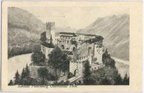 Burg PETERSBERG in Silz. Lichtdruck 9x14cm; Entwurf: Josef Prokopp, Wien II, Sinagasse 23; postalisch gelaufen 1925.  Inv.-Nr. vu914ld00171