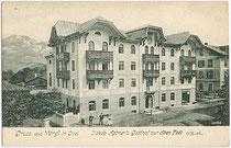 Jakob Astner's Gasthof ZUR ALTEN POST in der Innsbrucker Straße in Wörgl. Lichtdruck 9x14cm; kein Impressum; postalisch gelaufen 1906. Inv.-Nr. vu914ld00043