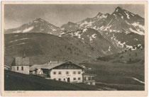 Jagdhof KÜHTAI (heute Schlosshotel) mit Gubener Weg. Rastertiefdruck 9x14cm; Verlag der Sektion Guben D.Ö.A.V. um 1920.  Inv.-Nr. vu914rtd00022