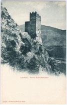 Burgruine Schrofenstein in Stanz bei Landeck, Tirol. Lichtdruck 9 x 14 cm; Impressum: Edition Photoglob, Zürich um 1900. Inv.-Nr. vu914ld00118