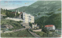 Schlösser KRAKOFL und SEEBURG in Kranebitt, Stadt Brixen am Eisack um 1910: Farblichtdruck 9x14cm; Stengel & Co., Dresden.  Inv.-Nr. vu914fld00010