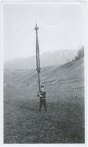 """""""Ostern 1933 - Kleiner Gaiger in Natters"""" (handschriftl. bez.). Gelatinesilberabzug 9x15cm; Anonymus/-a.  Inv.-Nr. vu105gs00007"""