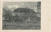Ansitz SCHNEEBURG in Mils bei Hall um 1920. Lichtdruck 9x14cm; kein Impressumsvermerk.  Inv.-Nr. vu914ld00117