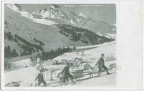 Heuziehen in Arabba, Gemeinde Livinallongo del Col di Lana (vormals: Pieve di Livinallongo). Gelatinesilberabzug 9x14cm; G. Ghedina, Cortina d'Ampezzo um 1925.  Inv.-Nr. vu914gs00168