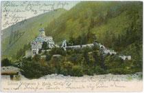 Burg WELFENSTEIN in Freienfeld. Farblichtdruck 9x14cm um 1900; Verlag J. Stafler.  Inv.-Nr. vu914fld00016