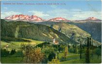 Oberbozen, Gemeinde Ritten mit der Kirche St. Jakob und Georg. Photochromdruck 9 x 14 cm; Impressum: Lorenz Fränzl, München 1913. Inv.-Nr. vu914pcd00256