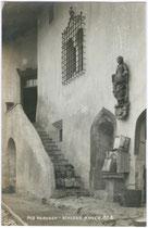 Treppenaufgang zum Ansitz ANGER in Klausen am Eisack. A(lfred). Stockhammer, Hall in Tirol 1913.  Inv.-Nr. vu914gs00099
