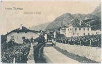 Ansitz Thalegg in Maderneid, Fraktion St. Michael, Gemeinde Eppan. Lichtdruck 9 x 14 cm ohne Impressum, um 1910.  Inv.-Nr. vu914ld00081