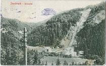 Die SILLWERKE, erbaut 1901-1903 für die Innsbrucker Stadtwerke von Ing. Josef Riehl. Lichtdruck 9x14cm; Impressum: Stengel & Co Ges.m.H., Dresden 1905.  Inv.-Nr. vu914ld00203