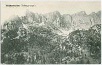 Dalfazerkamm in der Rofangruppe der westlichen Brandenberger Alpen. Lichtdruck 9x14cm; Becker u. Kölbinger, München um 1910.  Inv.-Nr. vu914ld00060