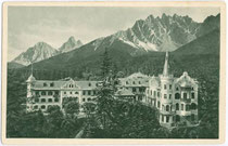 Wildbad Innichen im Hochpustertal (1.339 m). Rastertiefdruck 9 x 14 cm ohne Impressum, handschriftlich datiert 1913.  Inv.-Nr. vu914rtd00005