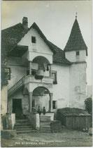 Ansitz Gremsen in St. Georgen, Stadtgemeinde Bruneck. Gelatinesilberabzug 9 x 14 cm; Impressum: A(lfred). Stockhammer, Hall in Tirol 1911.  Inv.-Nr. vu914gs01117