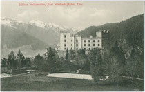 Schloss WEISSENSTEIN in Matrei in Osttirol. Lichtdruck 9x14cm; kein Impressum; postalisch gelaufen 1919.  Inv.-Nr. vu914ld00189