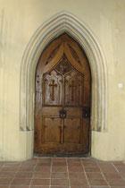 Gotisches Kapellenportal im Inneren der Salvatorkirche in der Salvatorgasse 4, Stadtgemeinde Hall in Tirol, Bezirk Innsbruck-Land. © Johann G. Mairhofer 2013.  Inv.-Nr. 1DSC07309
