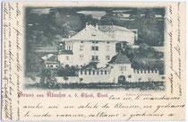 Ansitz GRIESBRUCK in Klausen am Eisack. Lichtdruck 9x14cm; kein Urhebernachweis. Inv.-Nr. vu914hg00014