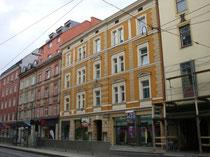 Haus Bürgerstraße Nr. 13 in Innsbruck, Innere Stadt. Digitalphoto. Darin um 1910 Photoatelier von E. von Vintler, Hans Amos und Atelier TIROLER ADLER. Digitalphoto, © Johann G. Mairhofer 2014.  Inv.-Nr. 2DSC00850