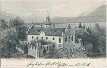 "Ansitz Friedheim (""Roteturmschlössl"") in Schwaz, Pirchanger 100. Lichtdruck 9 x 14 cm; Verlag G(eorg). Angerer, Schwaz um 1900.  Inv.-Nr. vu914ld00177"