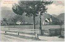 Pfarrkirche und Deutschordenshaus in Sterzing. Lichtdruck 9x14cm; Stengel & Co., Dresden.  Inv.-Nr. vu914ld00083