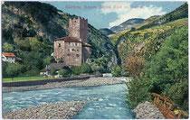 Burg RIED an der Talfer in Wangen, Gemeinde Ritten. Photochromdruck 9x14cm; Lorenz Fränzl,  München 1910/11.  Inv.-Nr. vu914pcd00012
