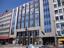Landeszentrale der BAWAG (Bank für Arbeit und Wirtschaft) AG in Innsbruck, Innere Stadt, Südtiroler Platz 7-10. Digitalphoto; © Johann G. Mairhofer 2012.  Inv.-Nr. 1DSC04700