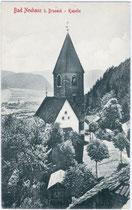 Mariä-Heimsuchung-Kapelle der Burg NEUHAUS in Gais bei Bruneck. Lichtdruck 9 x 14 cm; Impressum: Stengel & Co., Dresden 1909.  Inv.-Nr. vu914ld00088
